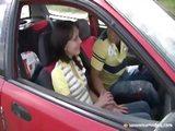 Teen fucked in the car
